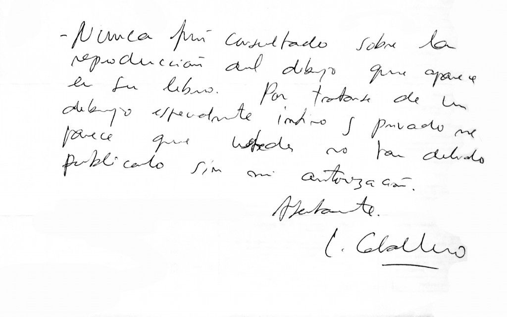 Carta de Luis Caballero