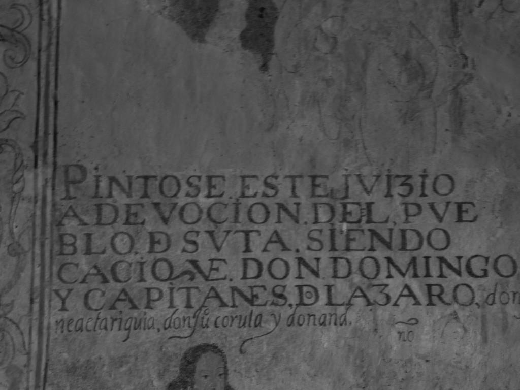 (7) Septima imágen, leyenda debajo de la escena del juicio final. Sutatausa