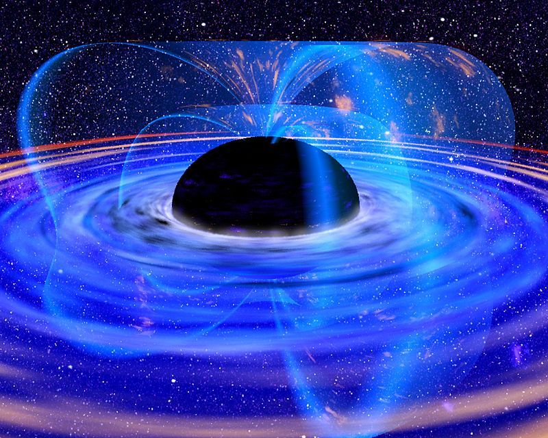 Black holes, Blue light, PD NASA- Licencia cc