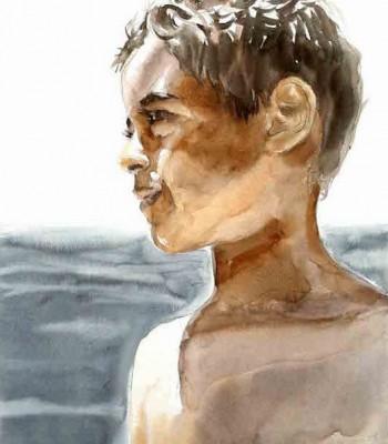 Retrato-en-acuarela-de-Juan-Carlos-por-JM-Santaella