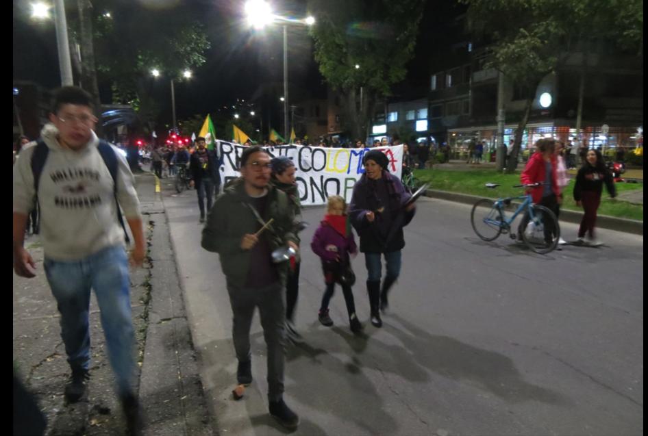 Paro Nacional, noviembre, 2019